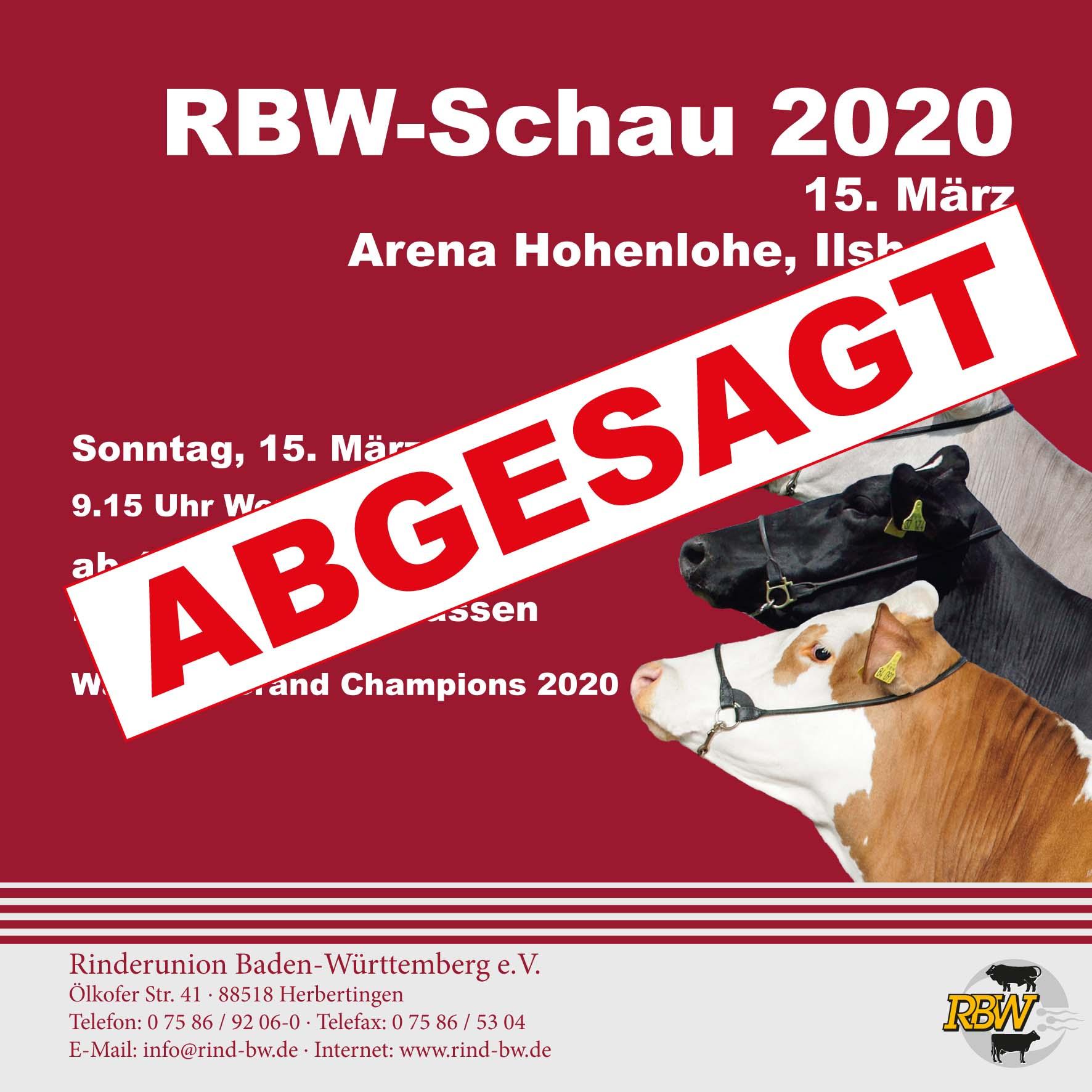 ABGESAGT - RBW-Schau 2020